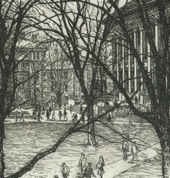 University Campus Etching