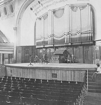 University Memorial Hall interior with Frieze Memorial Organ