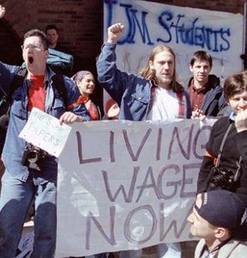 Students Protesting sweatshops