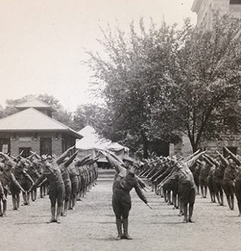 Troops performing SATC Drill