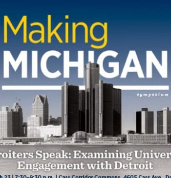 Detroiters Speak: Examining University Engagement with Detroit Promotional Poster