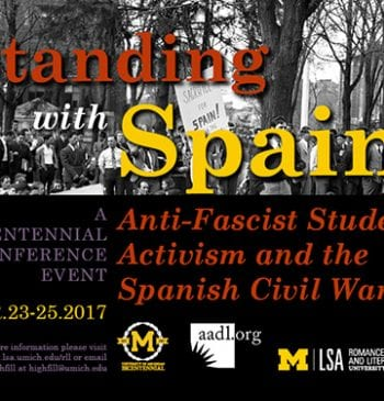 Standing with Spain: Anti-Fascist Student Activism and the Spanish Civil War Promotional Poster