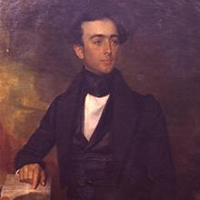 Portrait painting of Stevens T. Mason