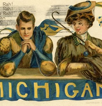 A 1907 game-day postcard