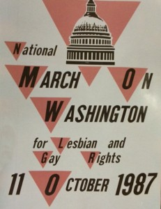 Toy helped organize a March on Washington in 1987, the original flyer for which is in his collection at the Bentley.