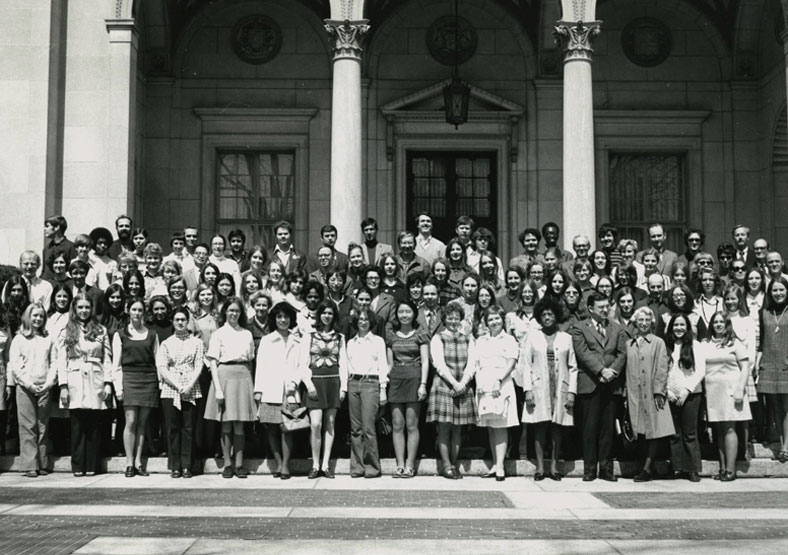 Library Science Class of 1972 on Campus