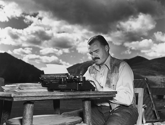 Hemingway at work, October 1939