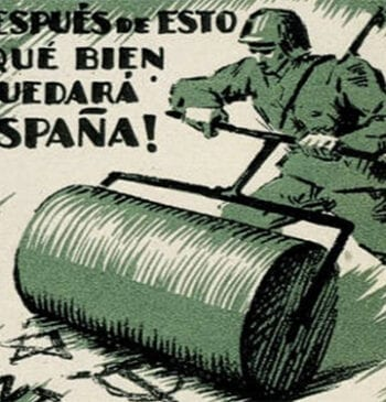 Anti-fascism poster from the Spanish Civil War
