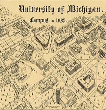 University of Michigan campus 1937